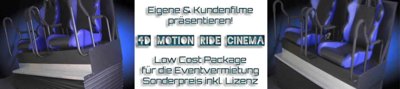 4D Cinema mit Sound und vielen Effekten - präsentieren Sie Kundenfilme am Point of Sales